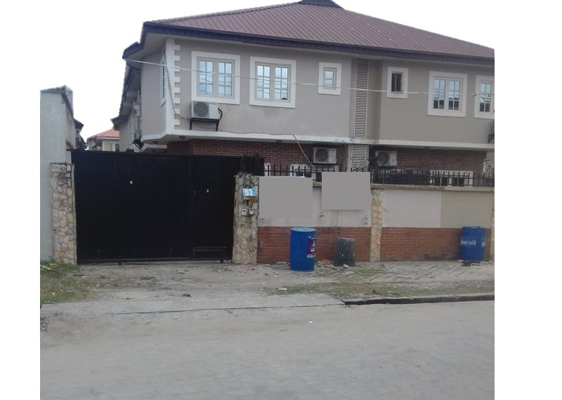A well-finished 3 bedroom semi-detached duplex with a room BQ