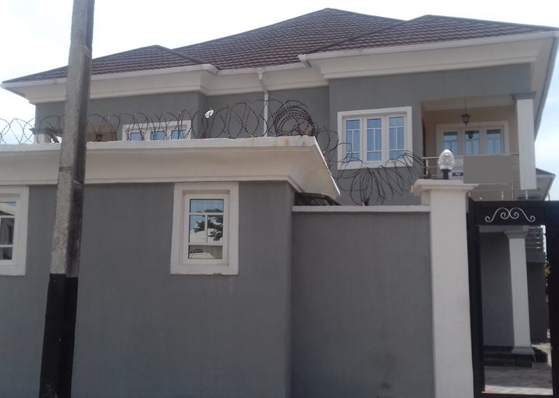 A nicely finished 4 bedroom semi-detached duplex with a room BQ