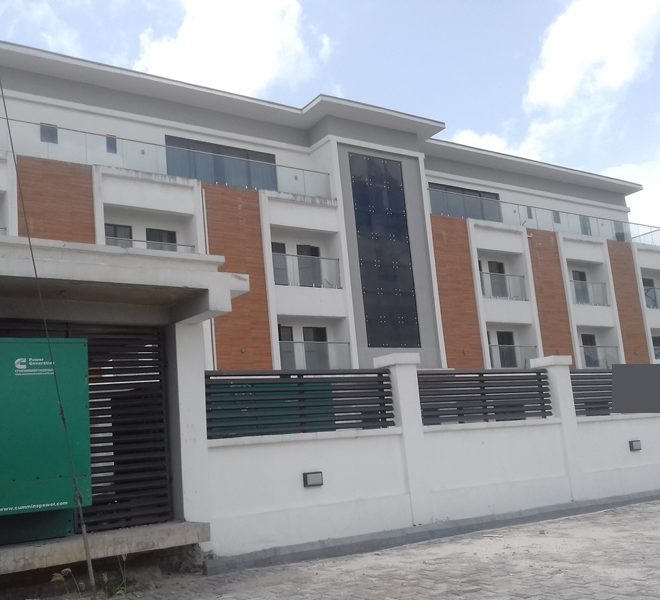 A well-built 4 bedroom terrace duplex with a room boy's quarter
