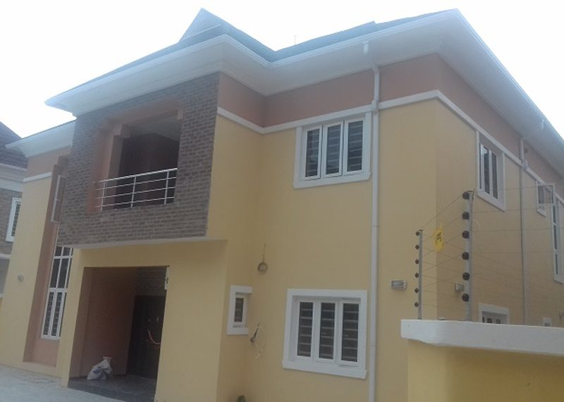 A luxury 5 bedroom fully detached duplex with a room boys' quarter