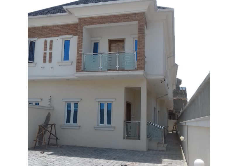 A well-built 5 Bedroom semi-detached duplex with one room boy's quarter