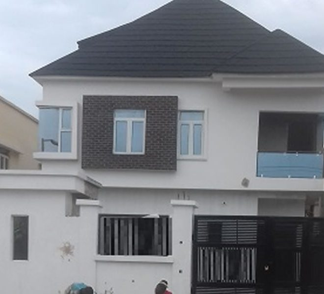 A newly built 5 bedroom fully detached duplex and a room BQ