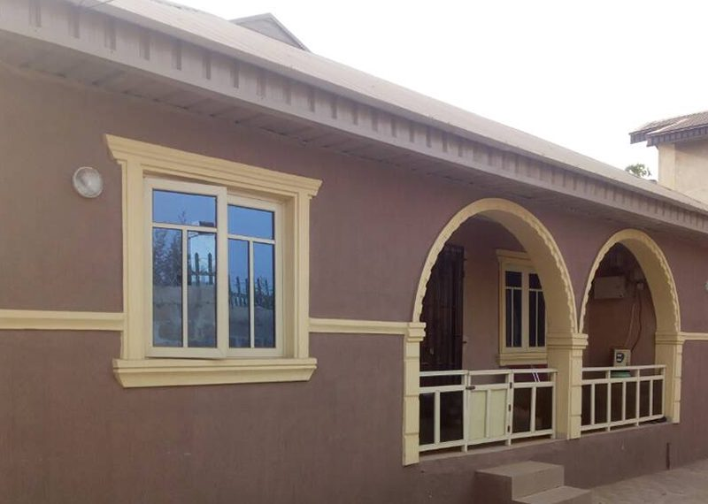 A newly built 4 bedroom bungalow