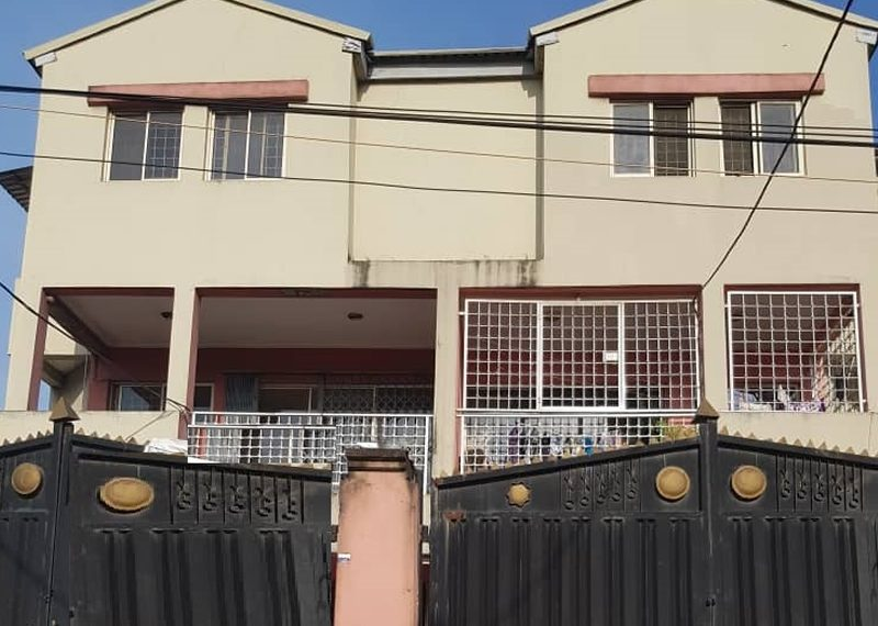 A nicely built 4 bedroom terrace duplex and a room BQ on corner piece