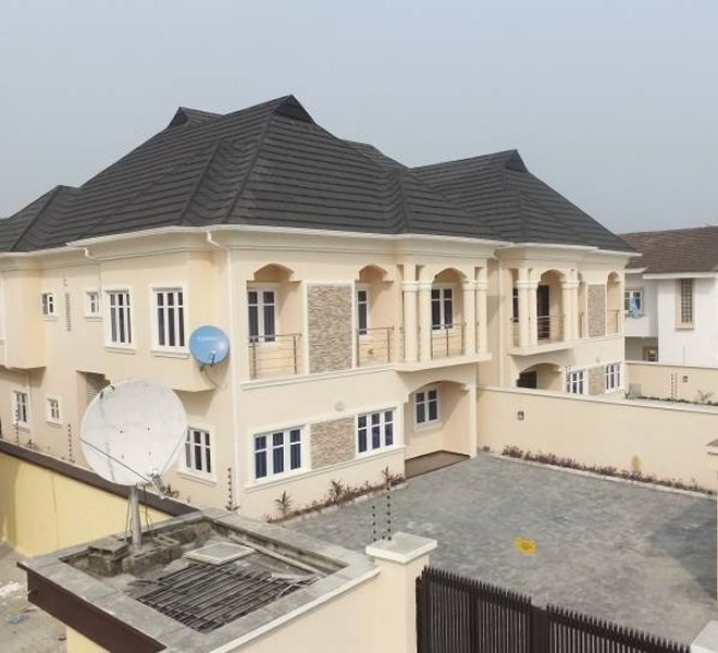A modern and brand new 5 bedroom fully detached duplex with 2 BQ