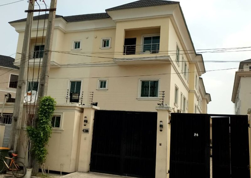 A tastefully built 5 bedroom semi-detached duplex with 3 living rooms