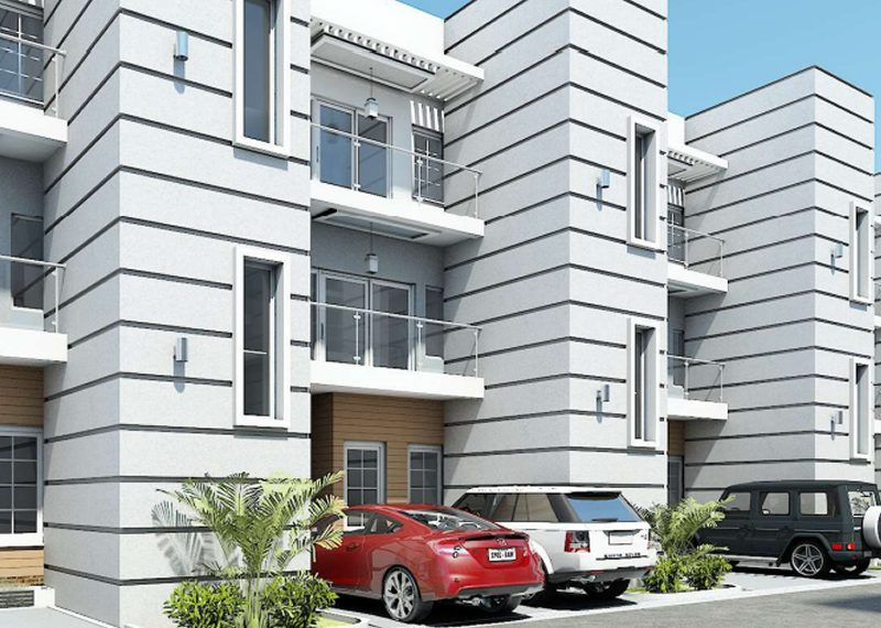 An off plan 4 bedroom terrace house and a room BQ on two floors