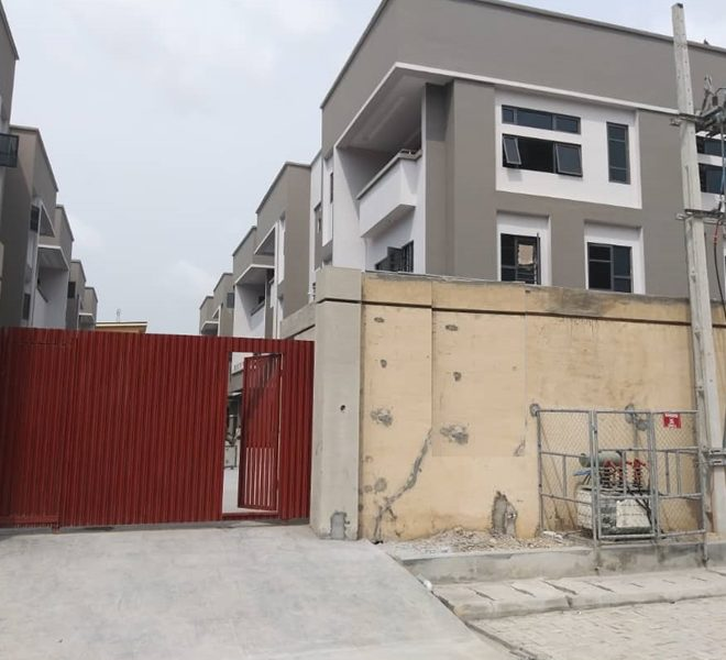 A newly finished 5 bedroom semi-detached duplex with a room BQ