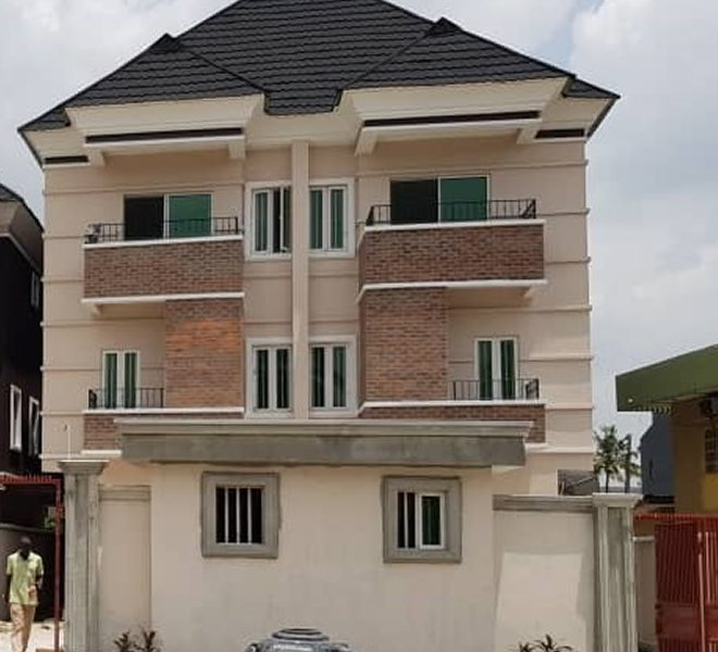A newly finished 4 bedroom semi-detached duplex with a maid's room