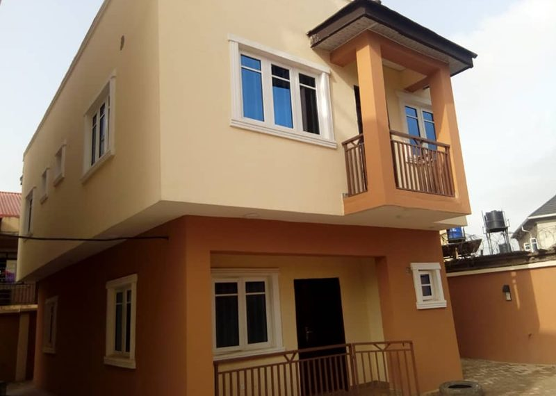 Block of flats with 3 bedroom duplex behind for sale in Lagos, Egbeda