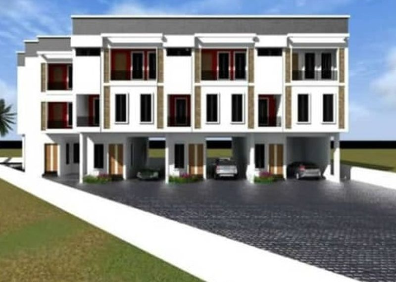 An off plan 4 bed terrace duplex for sale in Lagos, Ikota Villa estate.