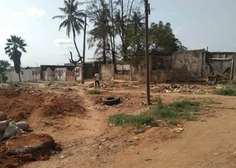 Full plot of land fenced with gate for sale in Lagos, Ipaja