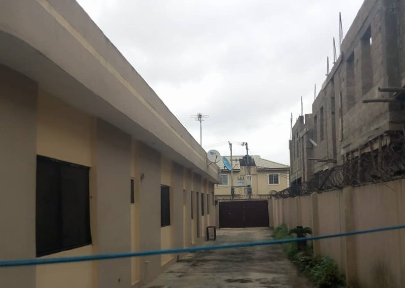 Lovely decked block of flats for sale in Lagos, Abule Egba