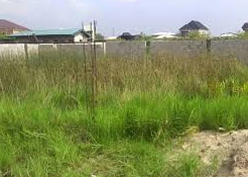 2 plots of land with half fence for sale in Lagos, Ajah, Sangotedo