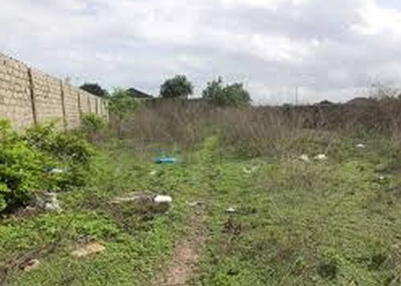 Full plot of dry land gated and fenced for sale in Lagos, Amuwo Odofin