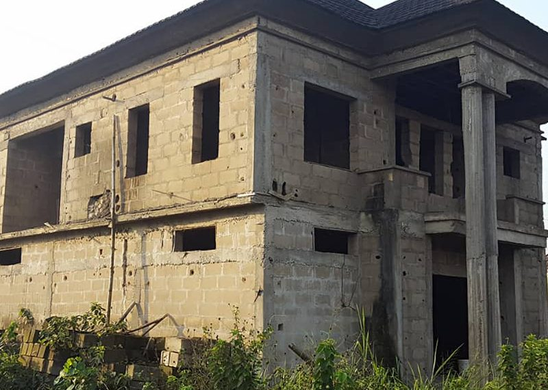 An Uncompleted Block of flats for sale in Lagos, Alagbado