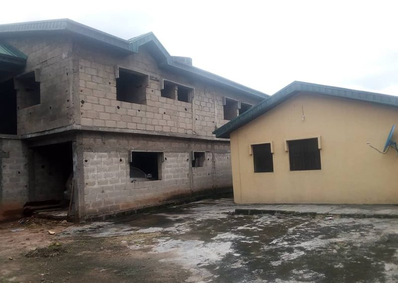 An uncompleted 6 bedroom detached duplex for sale in Lagos, Omole Phase 1