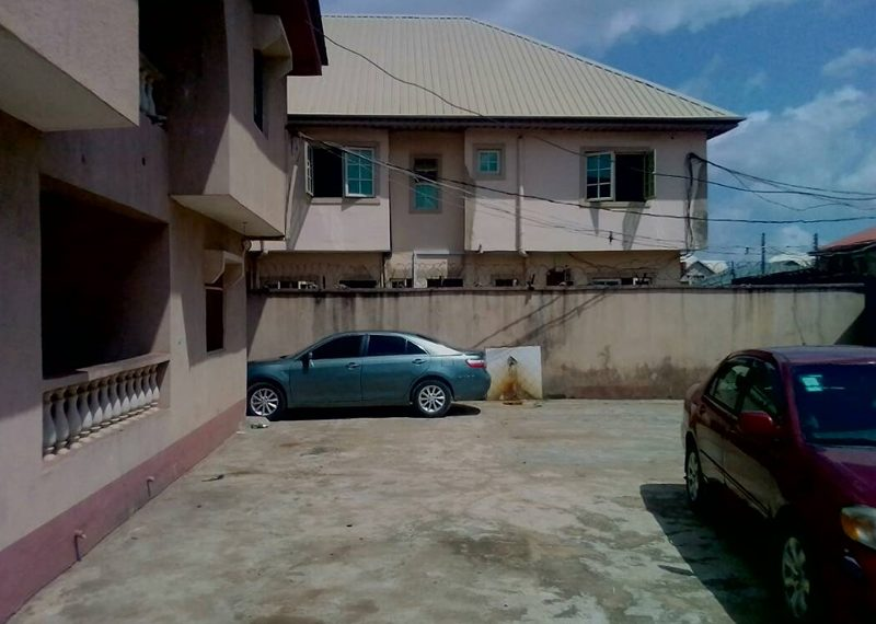 A block of 4 units of 3 bedroom flats for sale in Lagos, Isolo, Ajao Estate