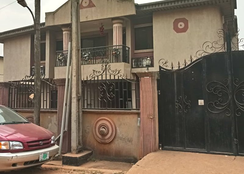 A block of 2 units of 3 bedroom flat for sale in Lagos, Idimu