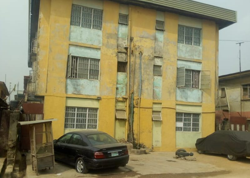 A block of 6 units of 3 bedroom flat for sale in Lagos, Oshodi, Shogunle