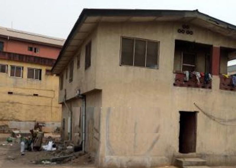 A Tenement Storey with 8 rooms bungalow for sale in Lagos, Ojo, Alaba