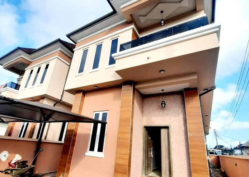 A detached 4 bedroom house in Ajah