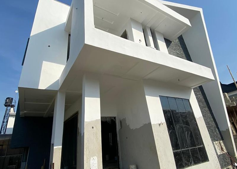 A fully detached duplex for sale