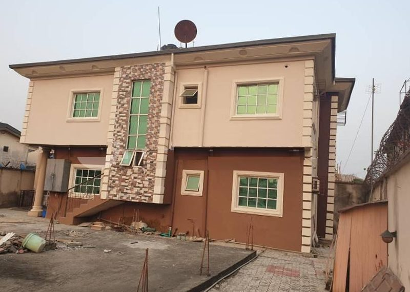 A bock of flats for sale in Isolo, Ajao Estate