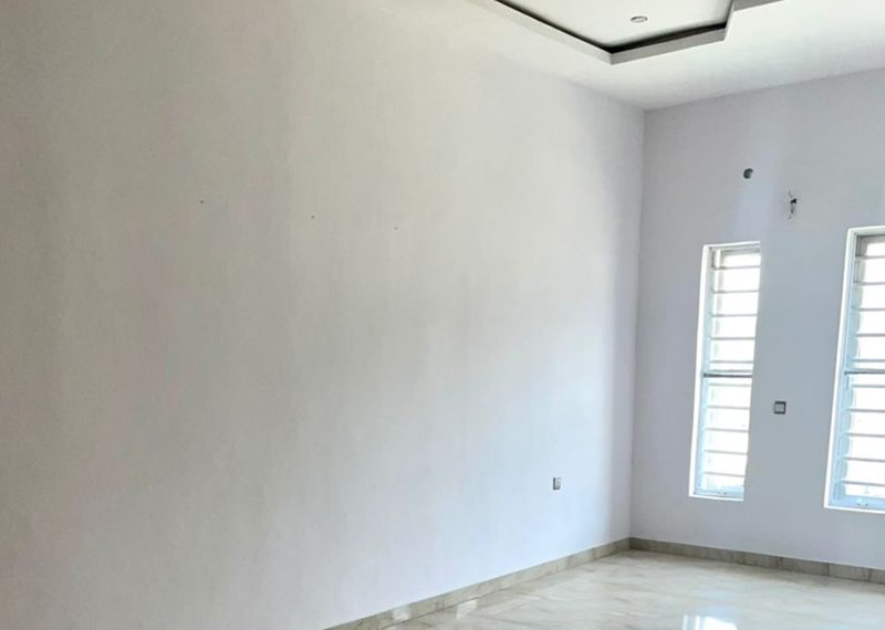 A newly built 4 bedroom semi-detached house in Lekki